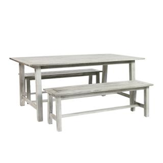 WOODLODGE/DORSETCOL2 (TABLE & 2 BENCHE