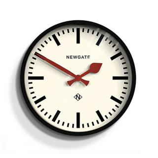 NEWGATE/LUGGATE CLOCK BLACK