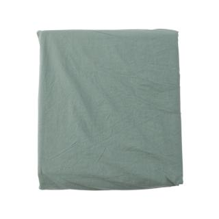COTTON STONEWASH FIT SHEETS D SAGE
