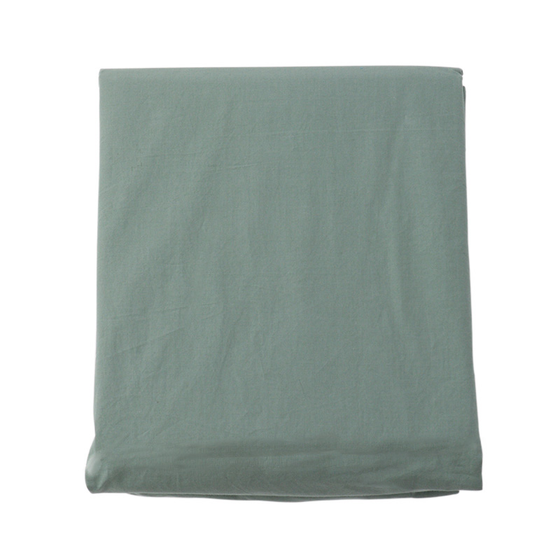 COTTON STONEWASH FIT SHEETS Q SAGE