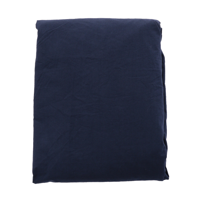 COTTON STONEWASH FIT SHEETS S NAVY