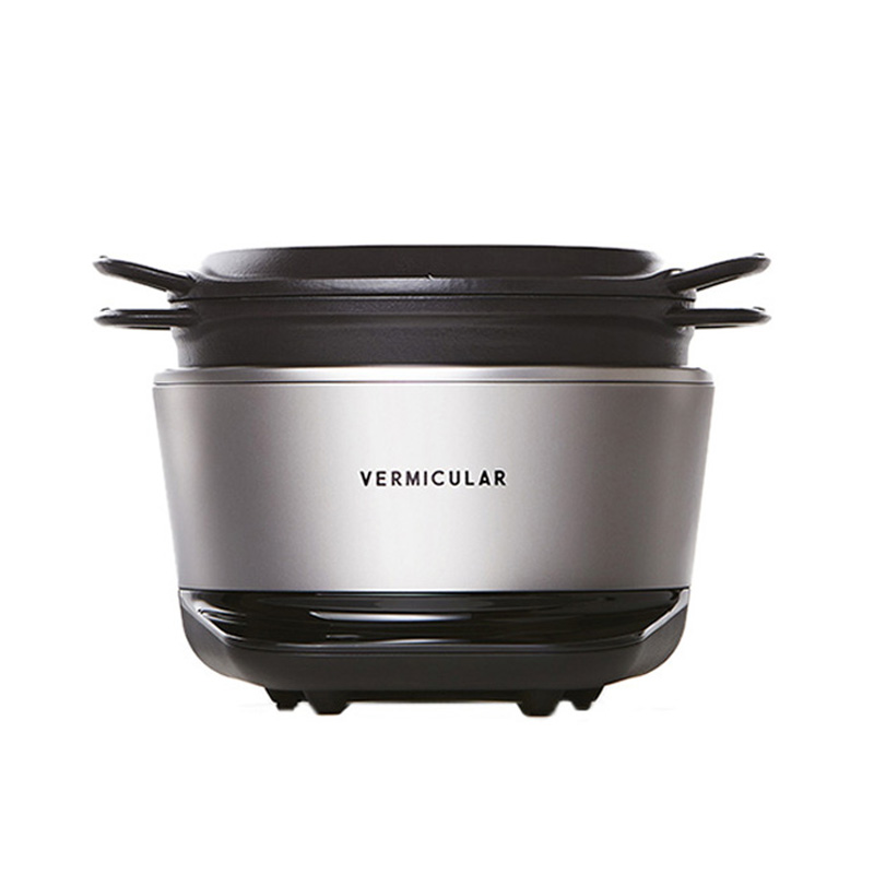 VERMICULAR RICEPOT SOLID SILVER