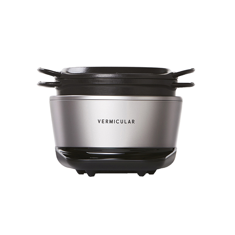 VERMICULAR RICEPOT MINI SOLID SILVER