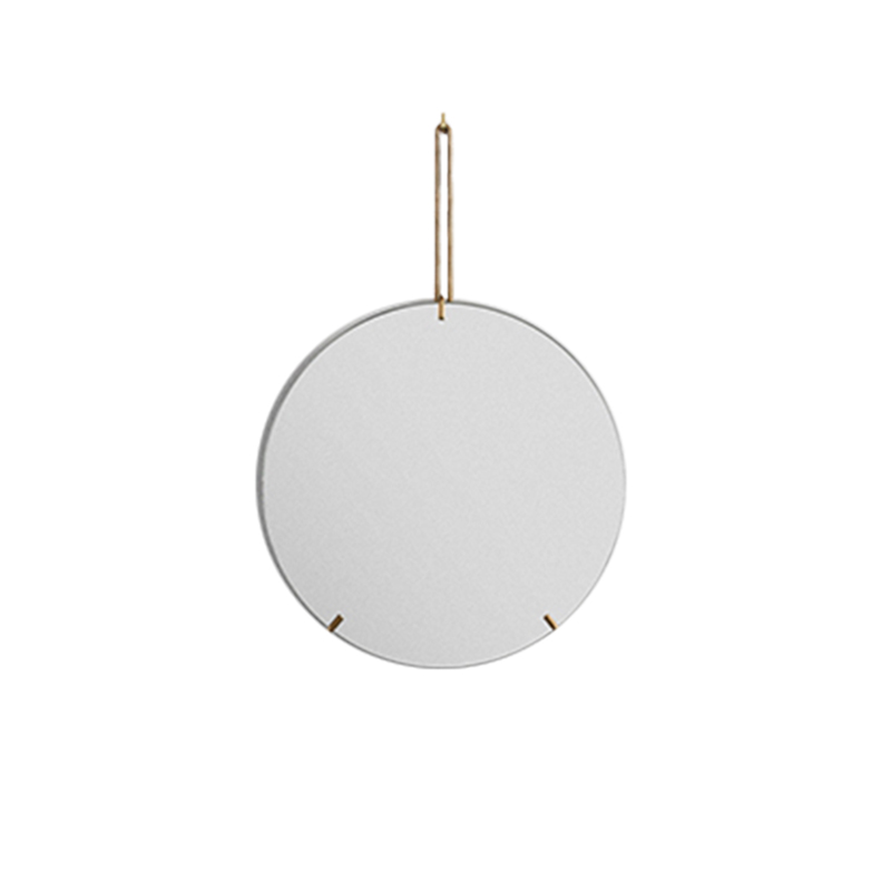 MOEBE/WALL MIRROR 30CM BRASS