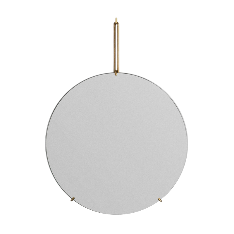 MOEBE/WALL MIRROR 50CM BRASS