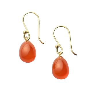 NATURAL FORMS EGG EARRINGS S CARNELIAN