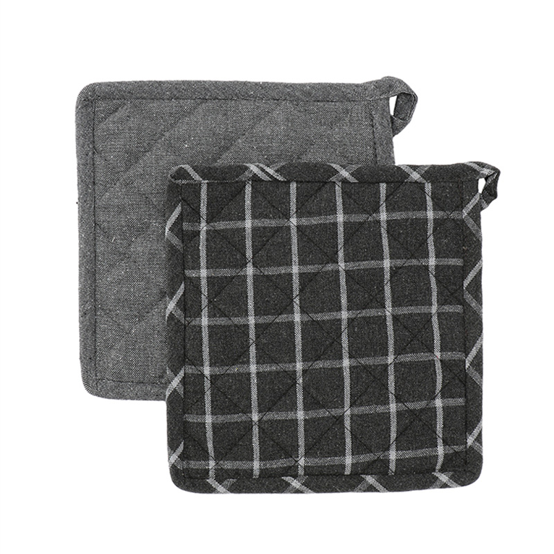 HEREN MOORE REVIVAL POT HOLDERS: STORM (PLAIN&CHECK)