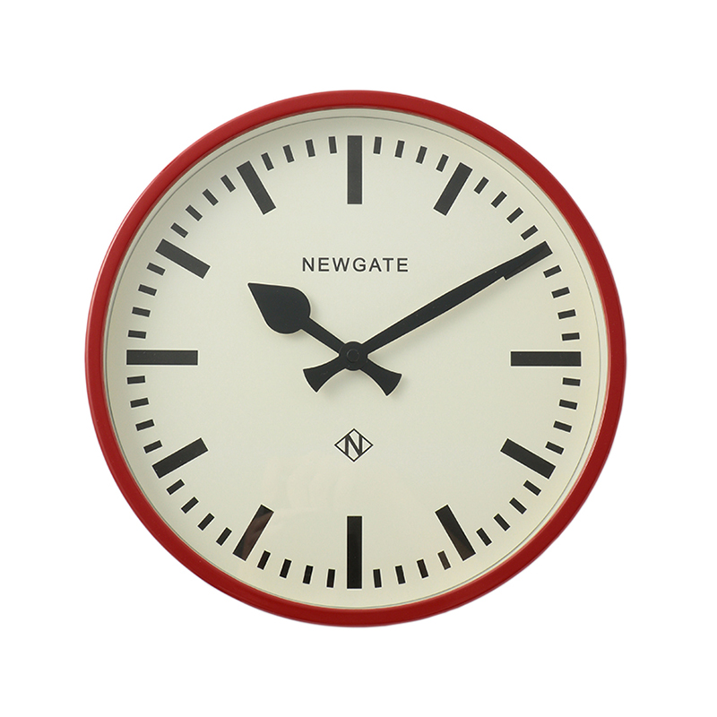 NEWGATE LUGGAGE CLOCK BISCUIT BOX RED