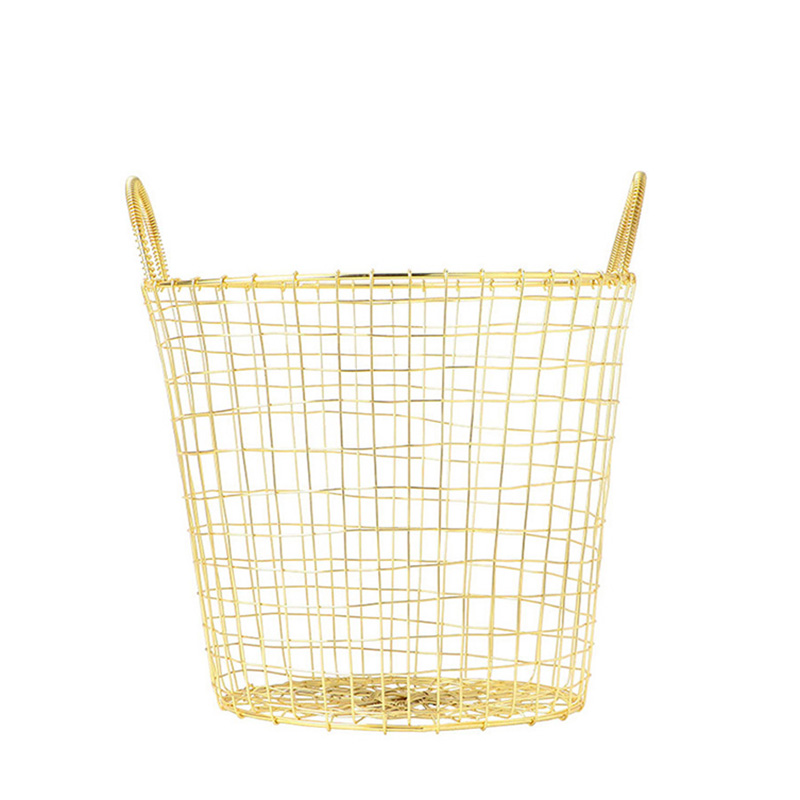 HOUSE DOCTOR BASKET WIRE BRASS SMALL