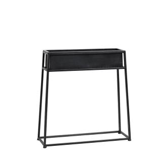 8837NORDAL Iron planter stand black