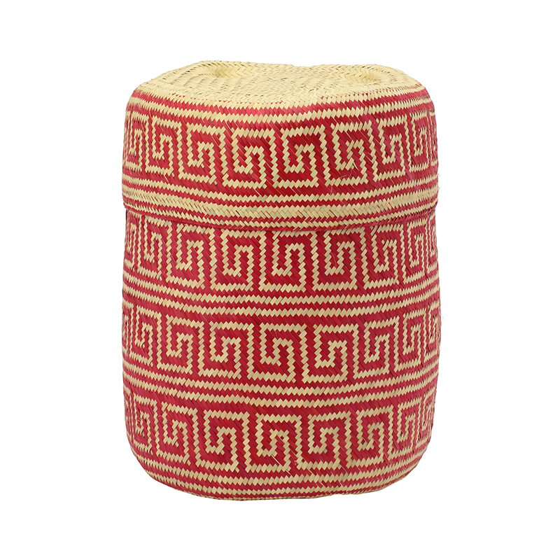 PI PRJCT Red lidded palm basket