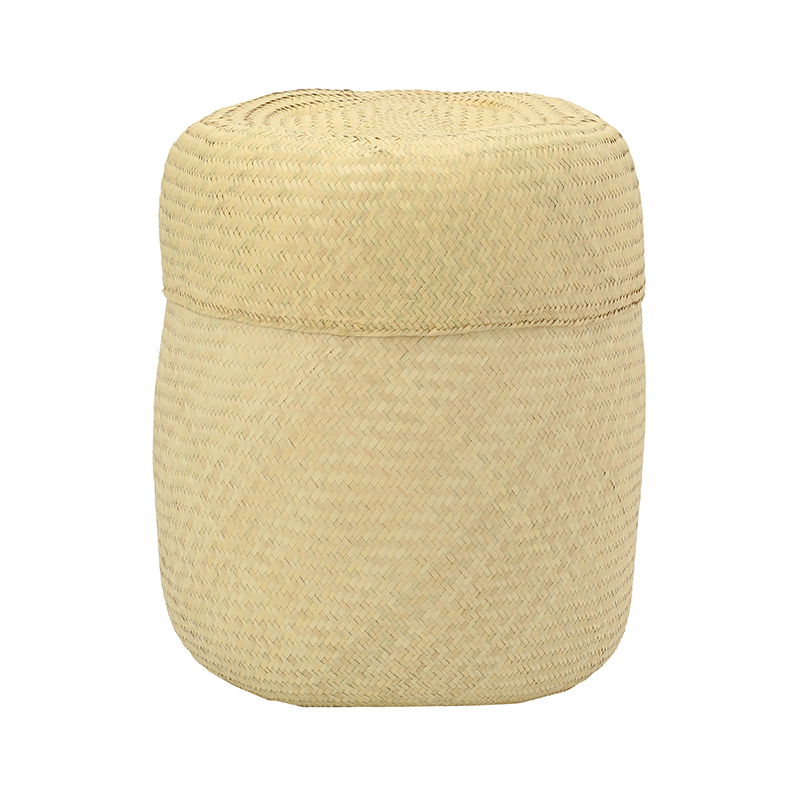 PI PRJCT Natural lidded palm basket