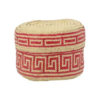 PI PRJCT Red lidded palm basket small