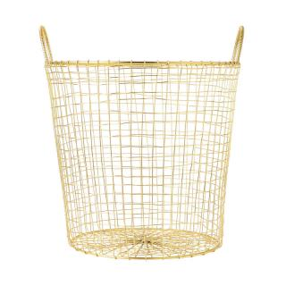 HOUSE DOCTOR BASKET WIRE BRASS LARGE