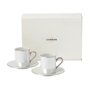 LSA PEARL COFFEE CUP & SAUCER SET