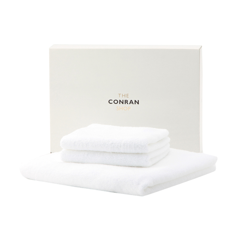 BATH & FACE TOWEL SET(WHITE)