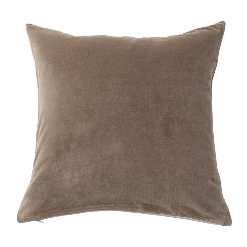 VELVET CUSHION COVER CHARCOAL