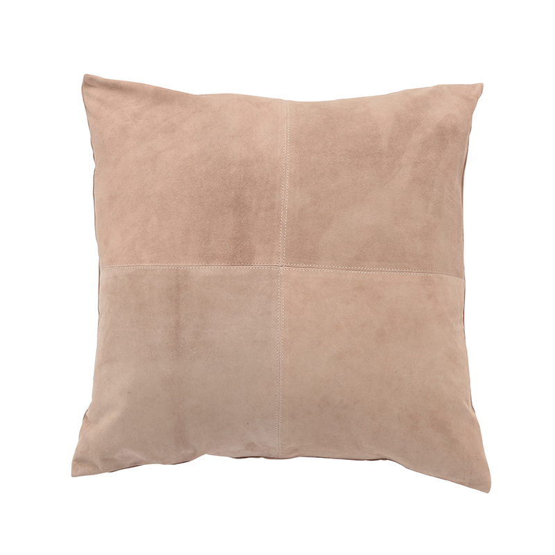 GOAT SUEDE CUSHION COVER NUDE