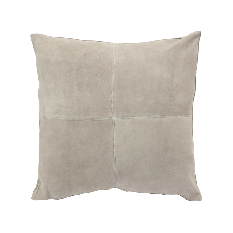 GOAT SUEDE CUSHION COVER SILVER