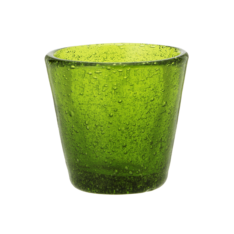 BUBBLE SHOT GLASS OLIVE