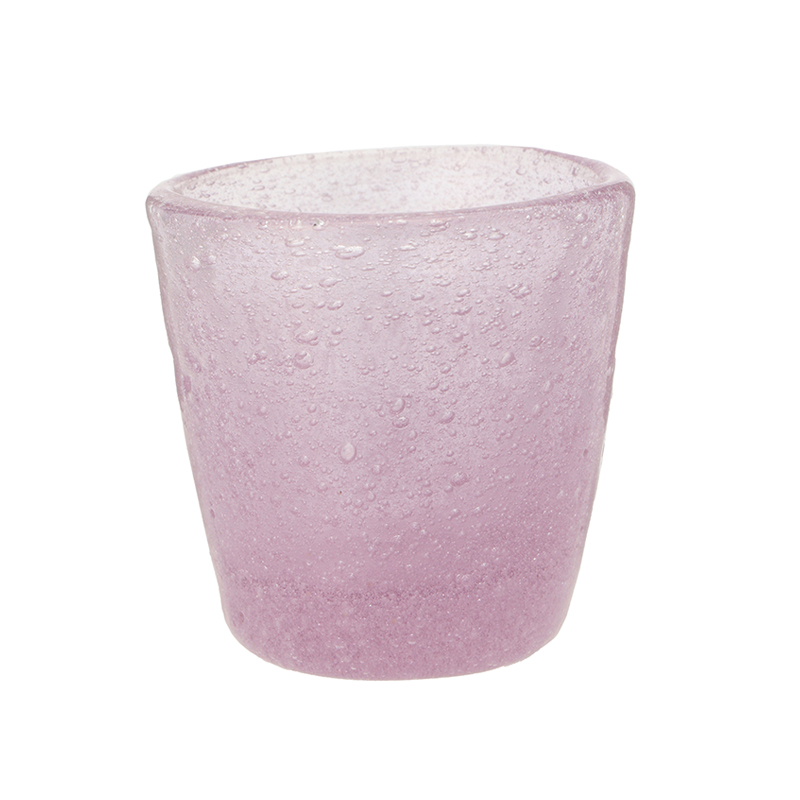 BUBBLE SHOT GLASS MAUVE