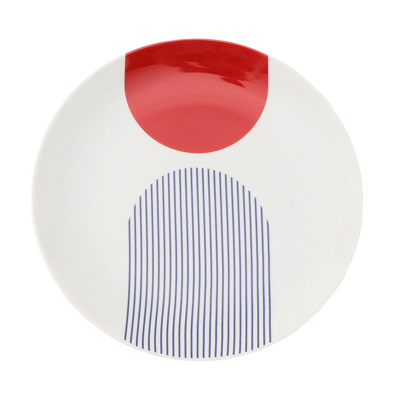CAP MODERNE BLUE/RED SIDE PLATE 21CM