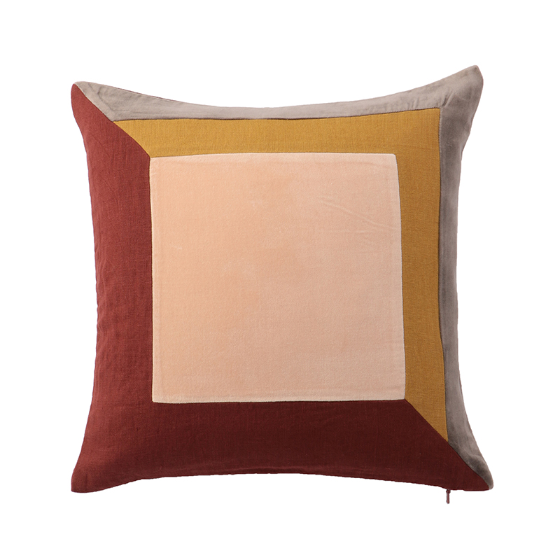 FRAME CUSHION COVER 45X45 RUSSET