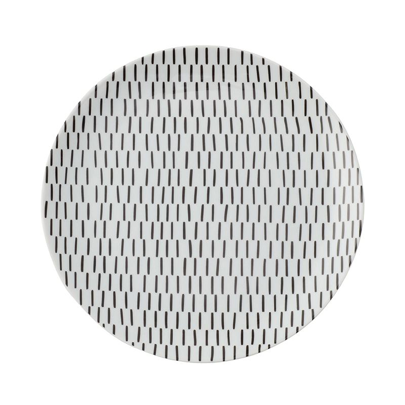 MOIRE CHARCOAL 21CM SIDE PLATE