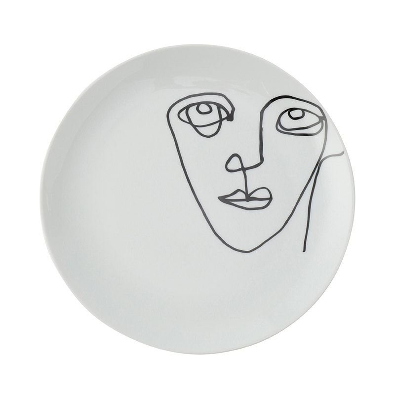 LINEAR FACE 21CM SIDE PLATE