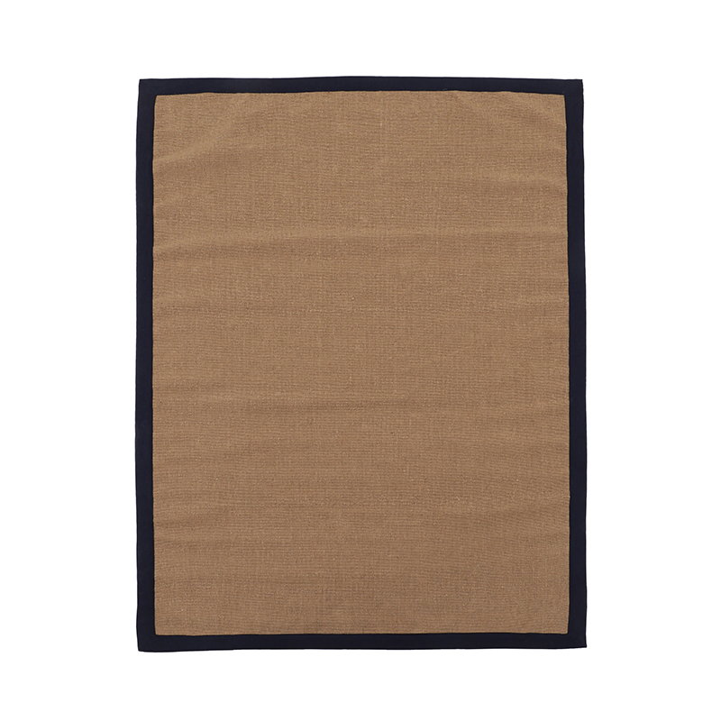 NEW TRIM JUTE BORDER NATURAL/NAVY 170×240