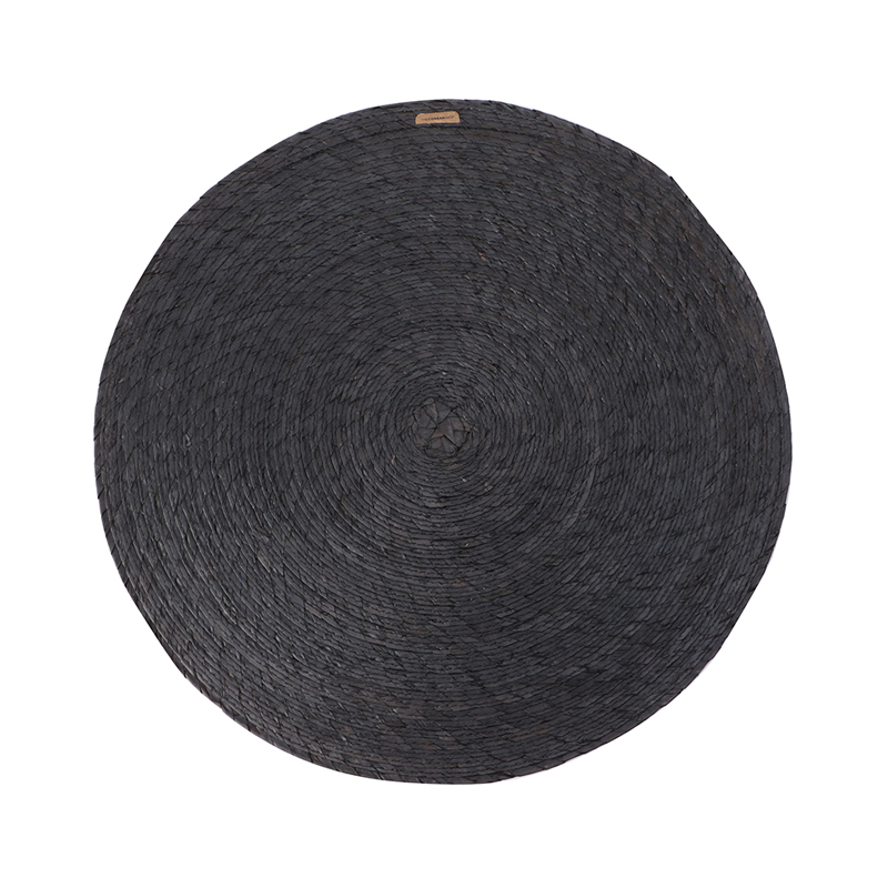 MAKAUA 38CM ROUND PLACEMAT CARBON