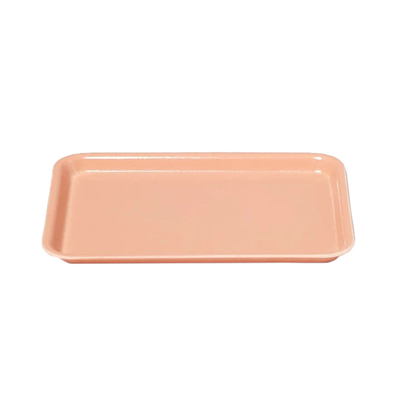 PEACH MINI RECT TRAY 18 X 12CM