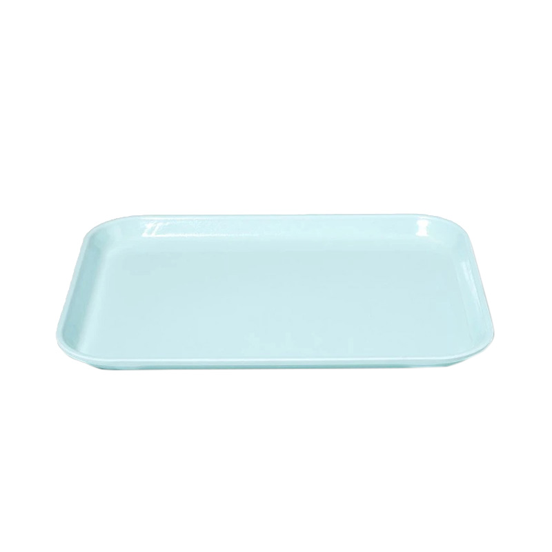 SKY BLUE MEDIUM RECT TRAY 27 X 35CM