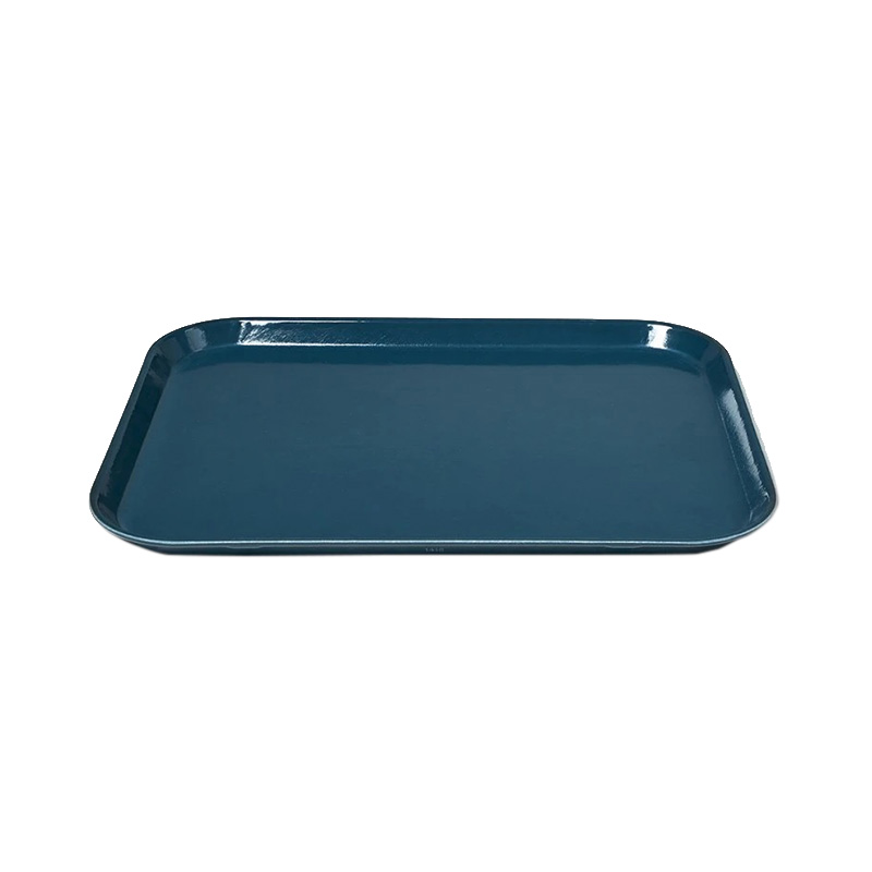 SLATE BLUE LARGE RECT TRAY 35.5 X 45.7CM