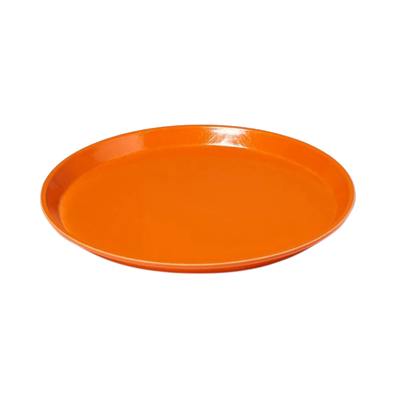 ORANGE PIZAZZ SMALL ROUND TRAY 30.5CM