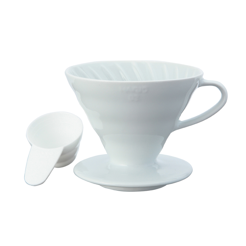 HARIO V60 CERAMIC COFFEE DRIPPER WHITE