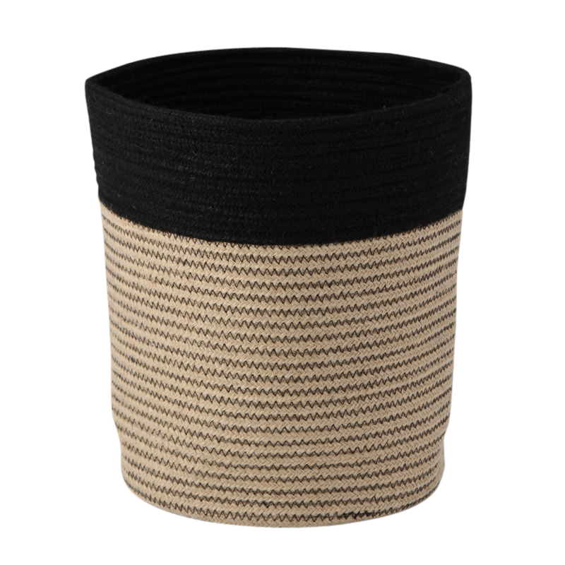 RIB BASKET NATURAL / BLACK XL