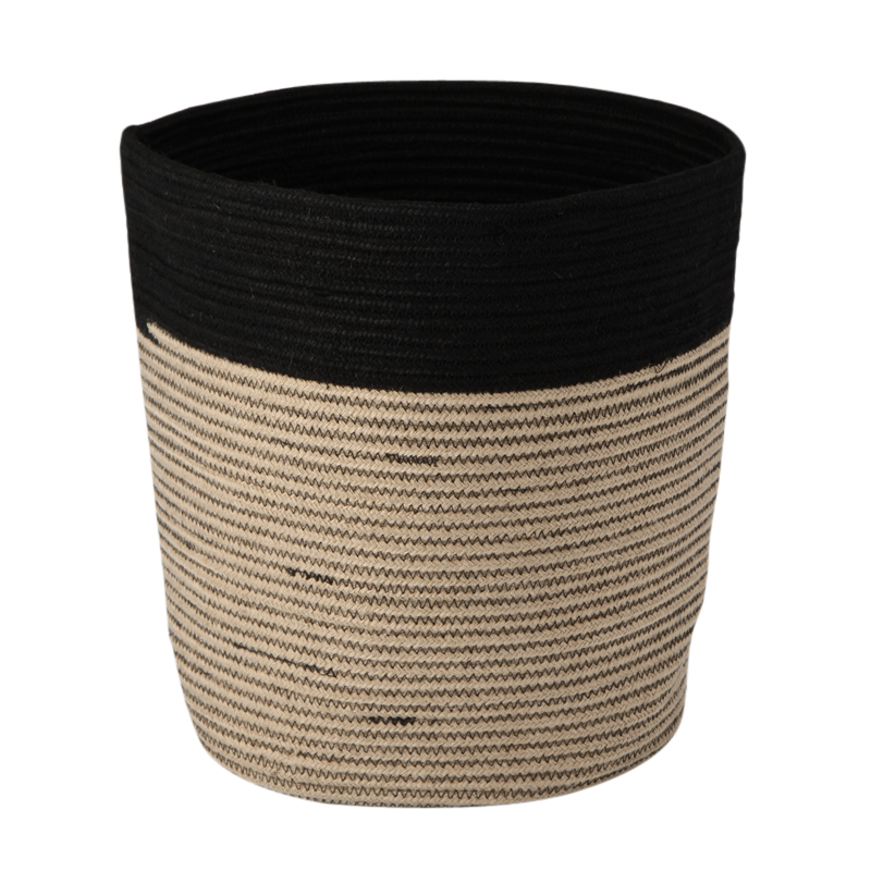 RIB BASKET NATURAL / BLACK L
