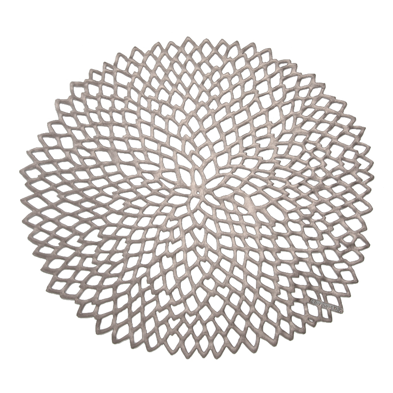 CHILEWICH PLACEMAT PRESSED DAHLIA GUNMETAL