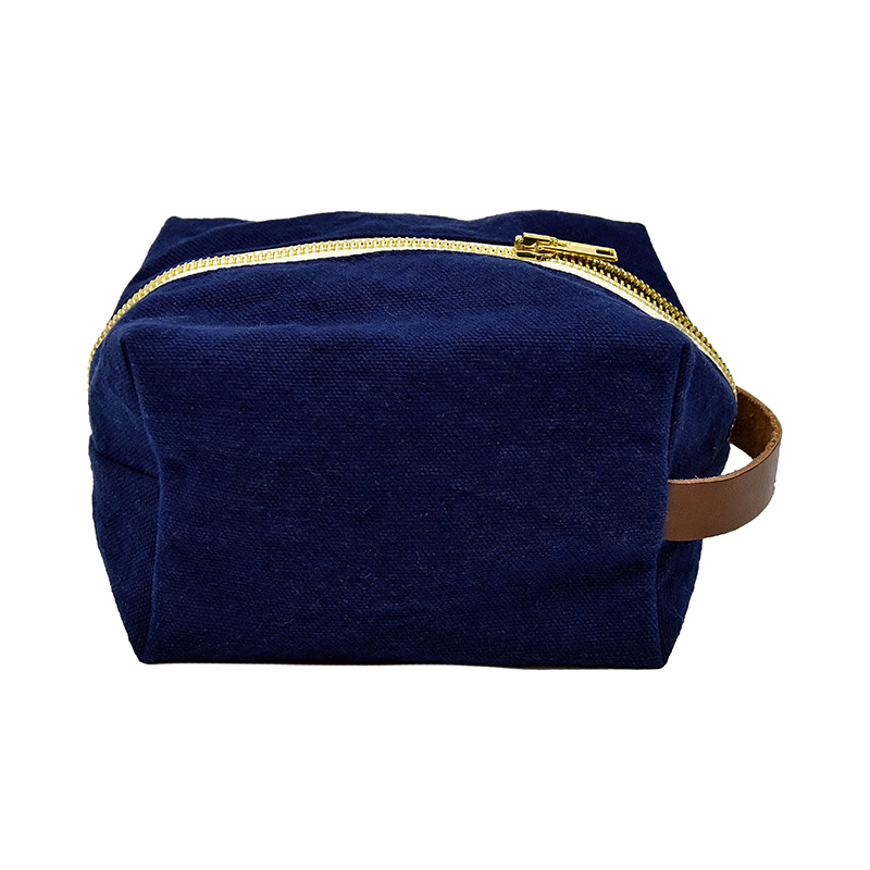 AJ/TOILET BAG-GEORGES 100%COTTON-BLUE