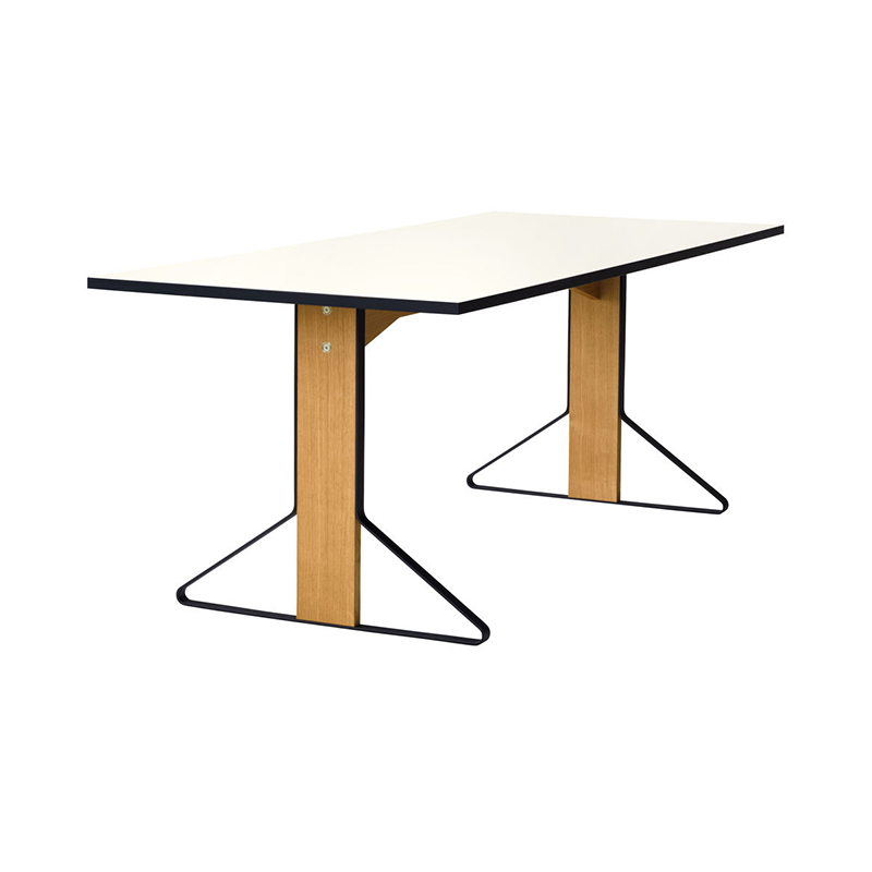 REB 001 KAARI TABLE WHITE HPL / NATURAL OAK