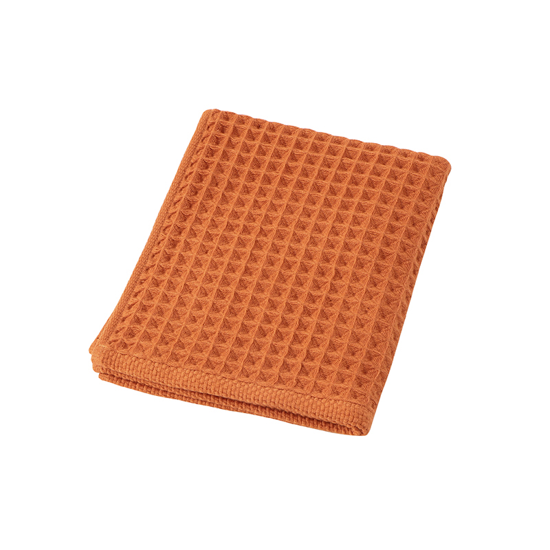 CONRAN WAFFLE&GAUZE HAND TOWEL 34X35 RUSTY ORANGE