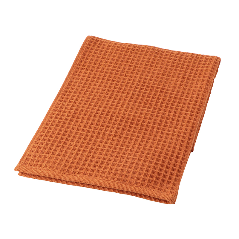 CONRAN WAFFLE&GAUZE BATH TOWEL 68X130 RUSTY ORANGE