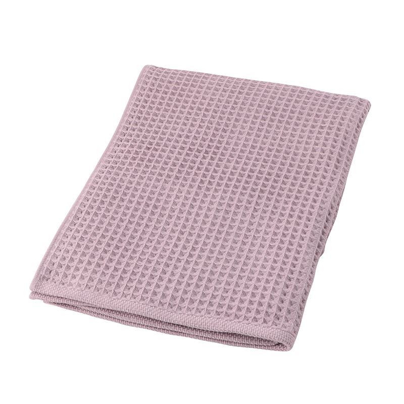 CONRAN WAFFLE&GAUZE BATH TOWEL 68X130 DUSTY LILAC