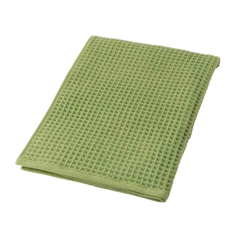 CONRAN WAFFLE&GAUZE BATH TOWEL 68X130 SMOKEY GREEN