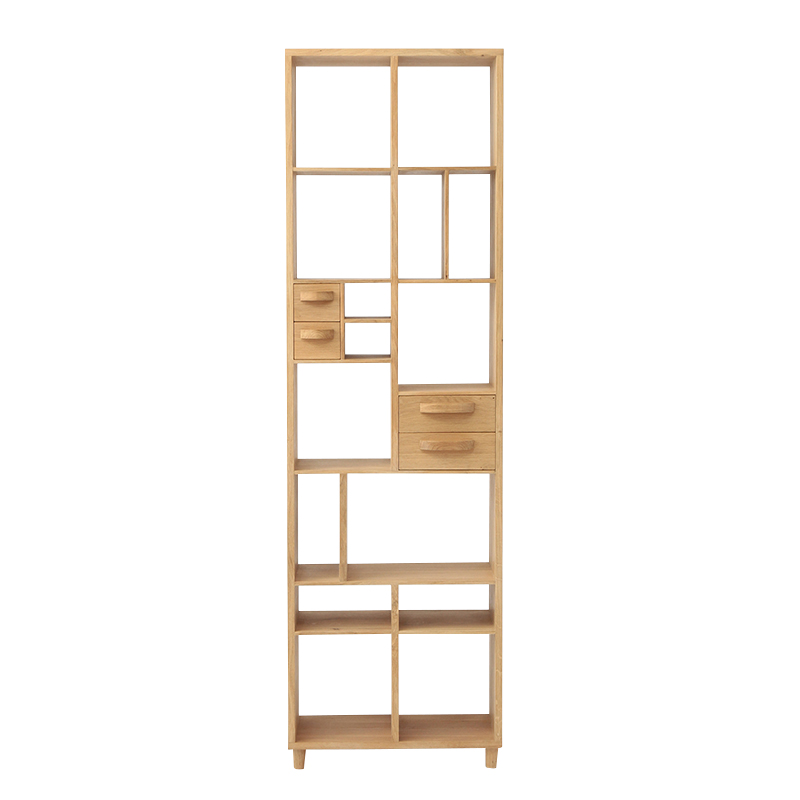 ETHNICRAFT OAK PIROUETTE BOOKRACK