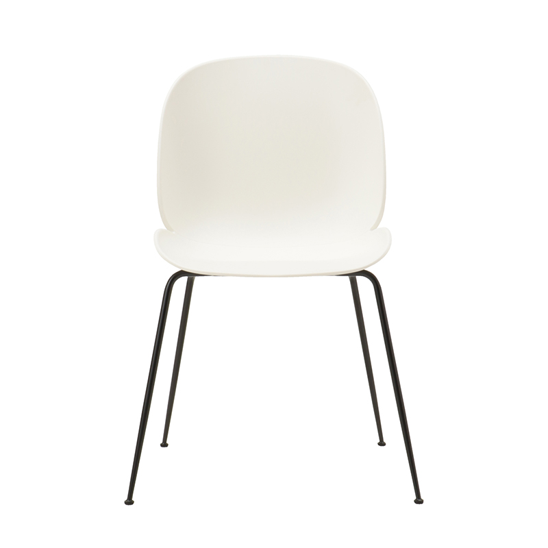 BEETLE CHAIR UNUPHOLSTERED WHT/BLK