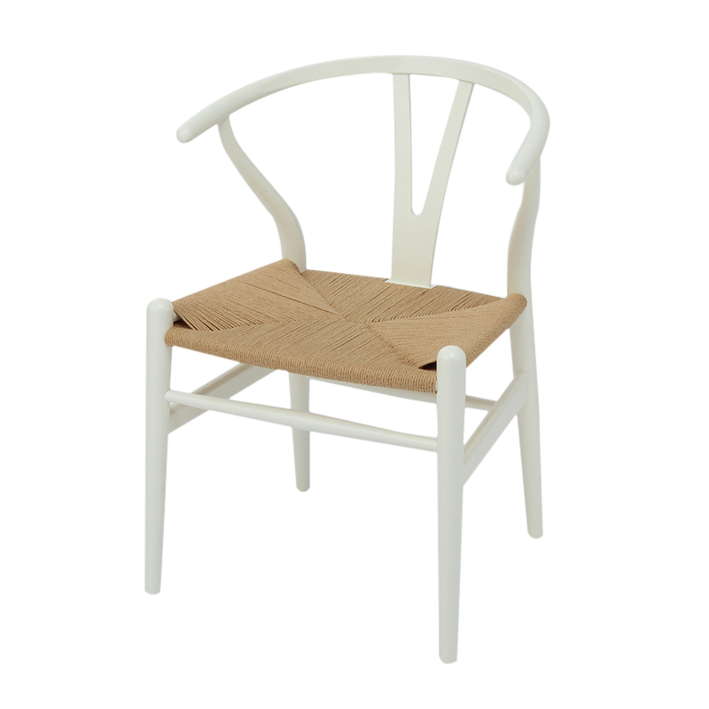 CH24 Y CHAIR BEECH WHITE / NATURAL PAPER CORD SEAT SH45