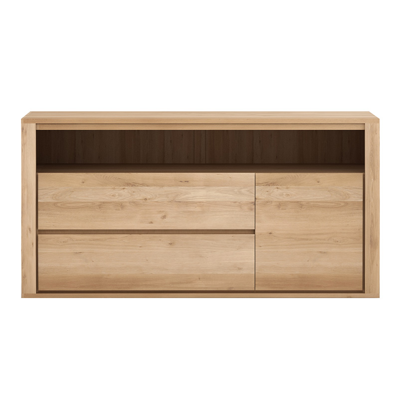 OAK SHADOW CHEST OF DRAWERS 2DRAW 1DOOR