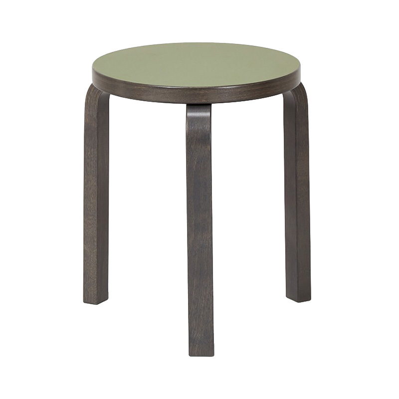 STOOL 60 OLIVE LINORIUM/STAINED GRAPHITE GREY